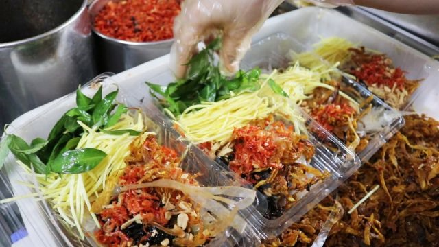 Rice paper salad a signature street food in HCM City