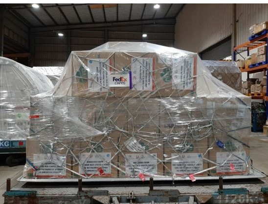 FedEx Express helps ship masks