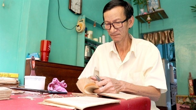 HCM Citys last bookbinder keeps craft alive