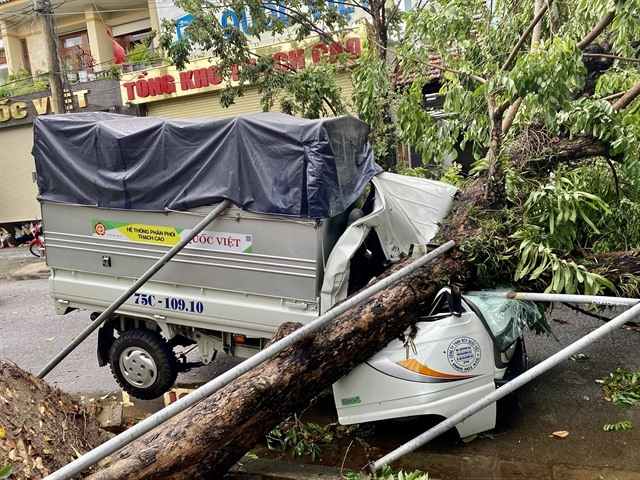At least one dead as Storm Noul makes landfall in central region