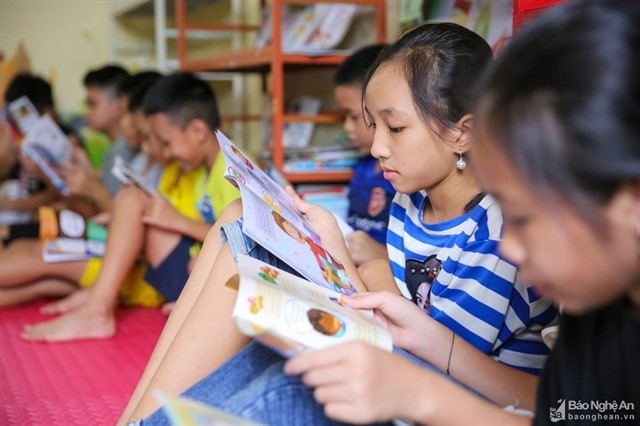 Summer libraries welcome 7000 children in Nghệ An