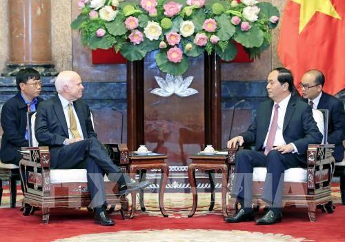 President NA leader welcome McCain