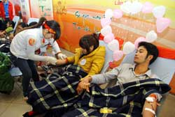 Red Spring campaign eases blood shortage