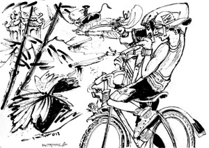 Bicycle trips geared towards fit tourists