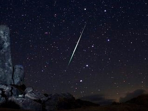 Meteor showers appears on Sunday