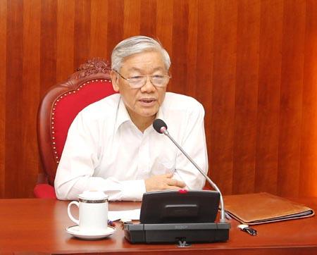 China VN party chiefs enhance partnership through phone talks