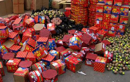 Three jailed for violating firecracker ban