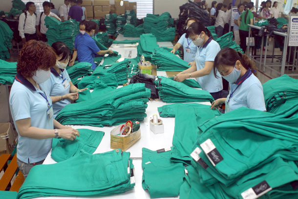 Garment exports remain on target