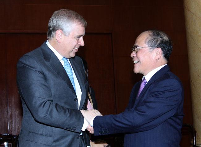 NA chairman greets UKs Prince Andrew
