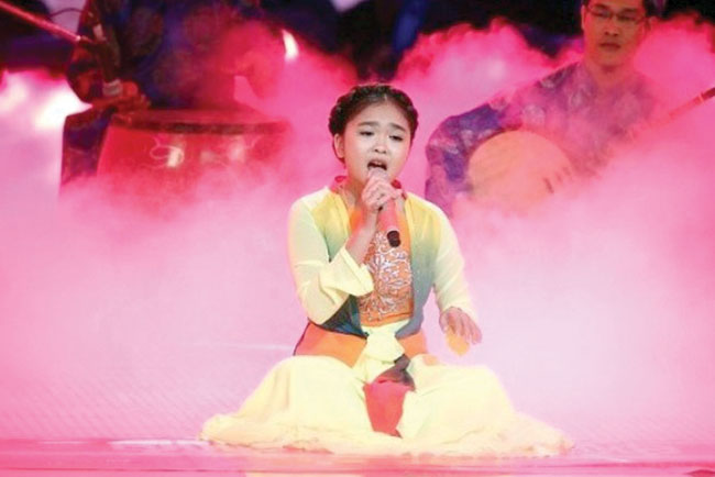 Challenging folk song nets 12-year-old victory on VoiceKids