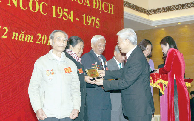 Nation thankful Party chief tells ex-POWs