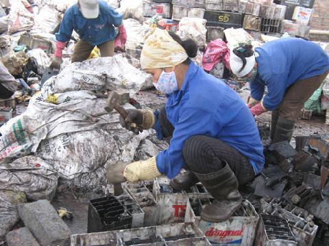 Village lead production hurts local children