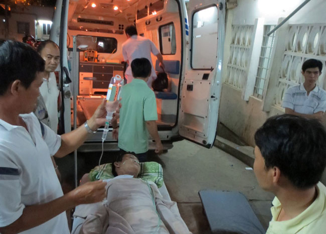 Blast victims in critical condition