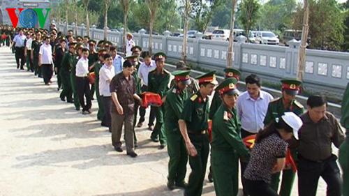 Volunteer soldiers laid to rest