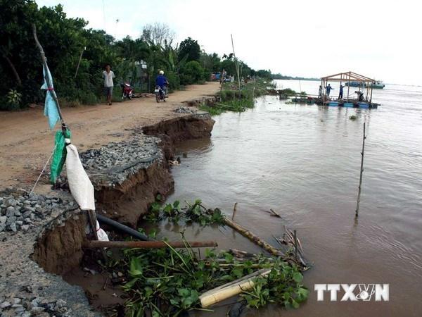 Mekong erosion damages property
