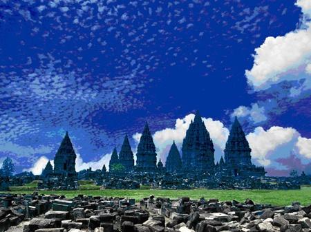 Religious site: Candi Prambanan/Prambanan Temple, a ninth-century Hindu temple in Central Java.