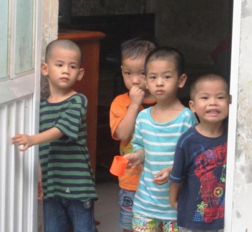 Bo De Pagoda kids elderly relocated