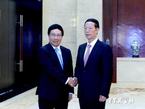 Deputy PM meets China counterpart