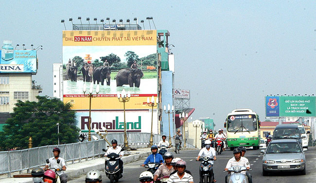 HCM City cracks down on ad flyers billboards