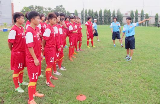 U16 team train for Asian event