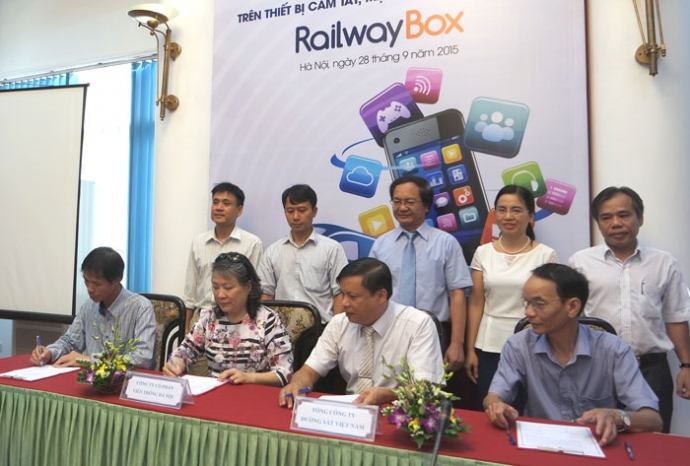 Train customers to access services on smartphones