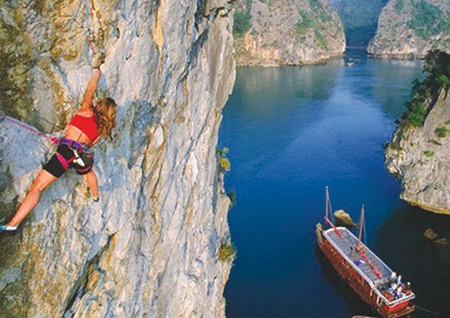 New horizons: Conquering the cliffs in Cat Ba means conquering breathless views.