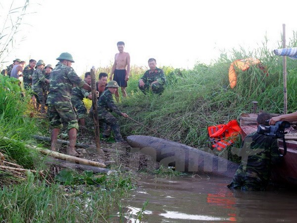 Bomb removed from sea off Thanh Hoa Province