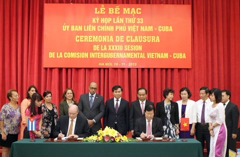 MoU inked to boost ties with Cuba