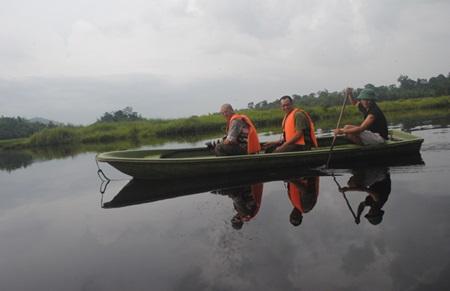 Crocodiles return to their special lake