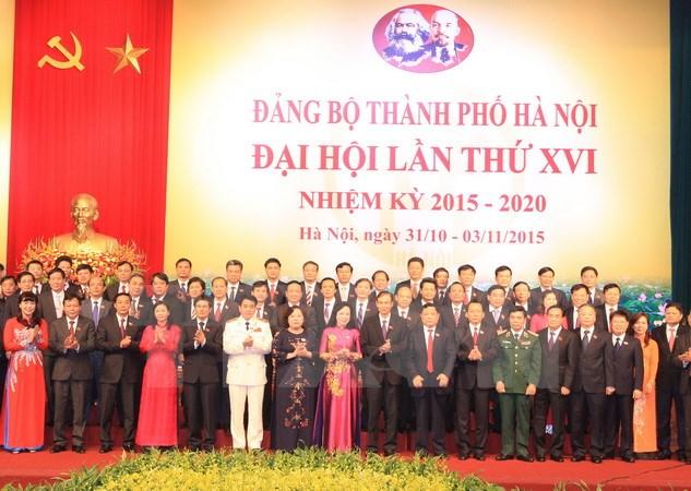 Ha Noi wraps up 16th municipal party congress