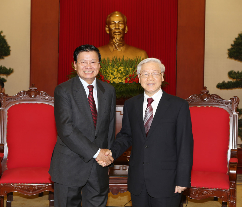 Party General Secretary greets Deputy Prime Minister of Laos