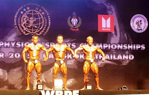 VN win bodybuilding championship gold medals