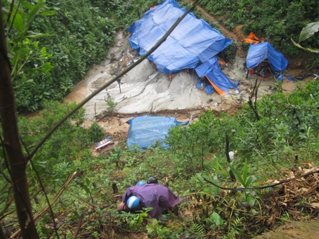 Toxic chemicals from gold mining destroys environment
