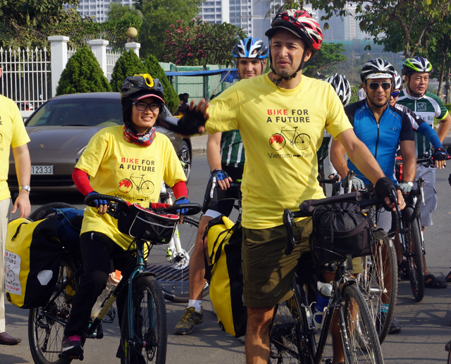 Activist to pedal from HCM City to Paris