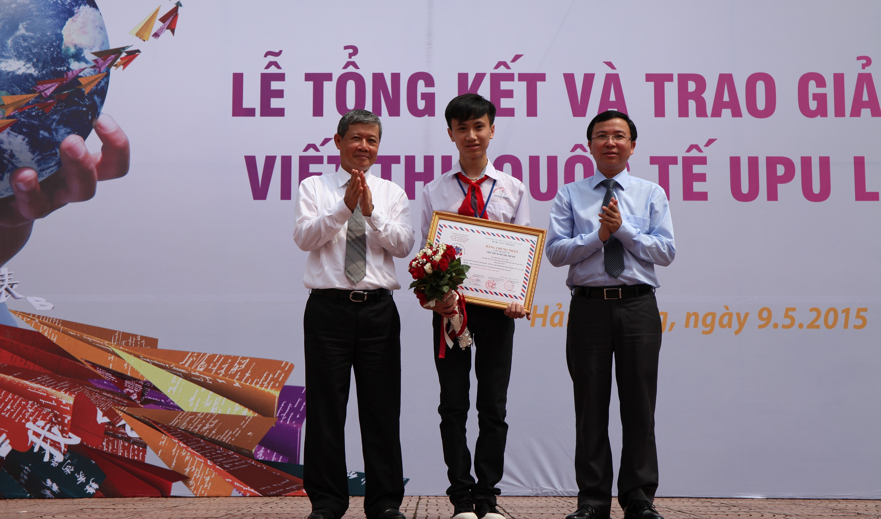 Eighth grader wins national UPU letter-writing contest