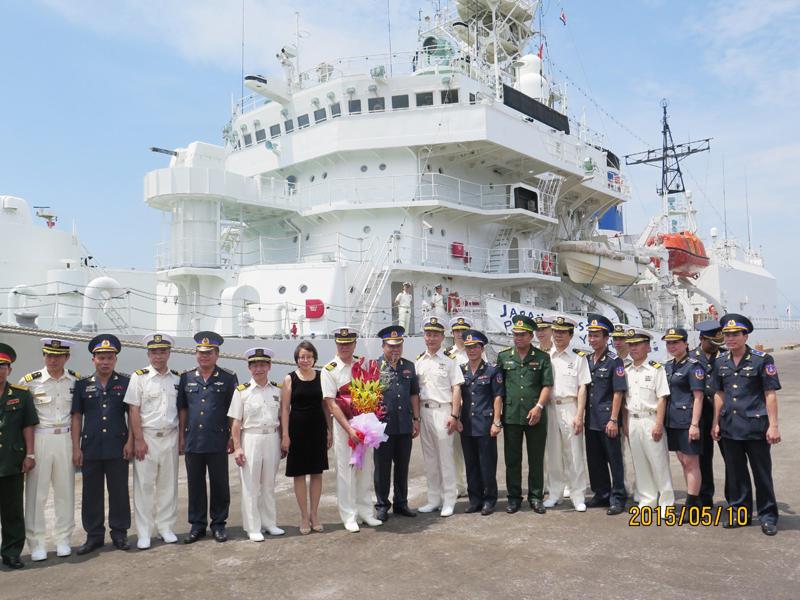 Japan Coast Guard ship docks on visit