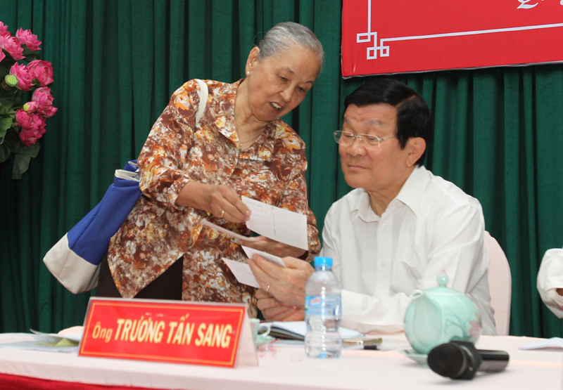 President hears concerns from HCM City voters