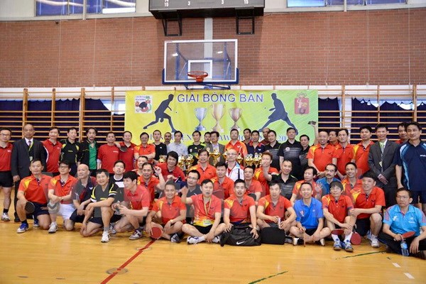 Eight countries compete in table tennis tournament