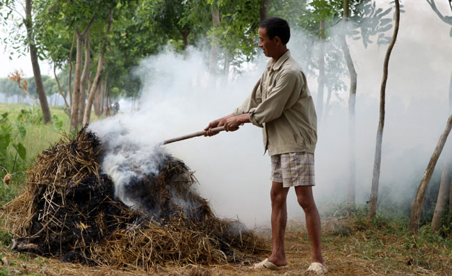 Post harvest straw smoke continues to harm people