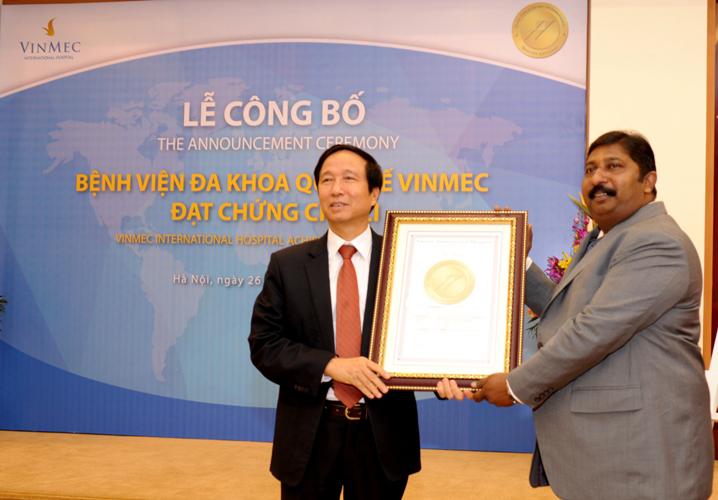 Vinmec hospital achieves countrys first JCI accreditation