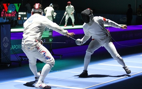 Nhat reaches quarter-finals of epee event