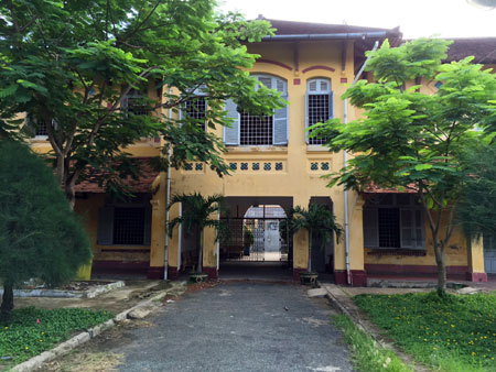 Still standing: Parts of the 100-year-old Chau Van Liem School are still in good condition.