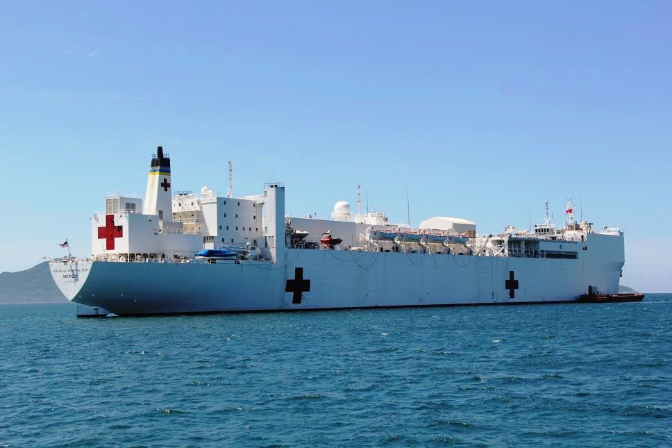 US hospital ship arrives for 2015 medical mission