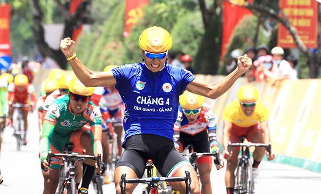 Tam wins fifth stage of Mekong Delta cycling event