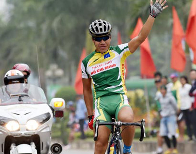 Nhan wins yellow jersey at Mekong Delta Cycling Tournament