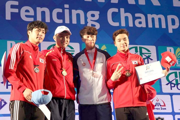 Vietnamese fencer claims gold