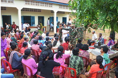 Military gives free care to Cambodians