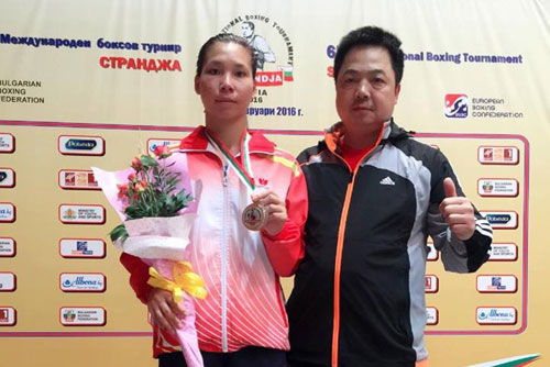 Linh bags Strandja boxing silver