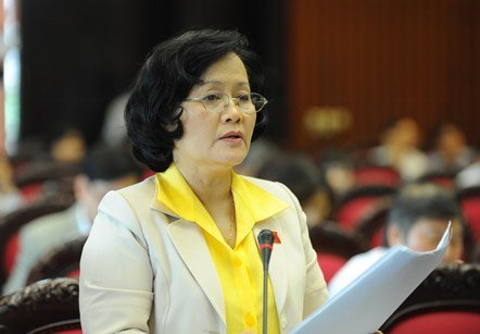Khanh the first female deputy to submit law to National Assembly