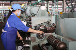 Industrial production slows down